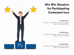 Win Win Situation For Participating Contestant Icon