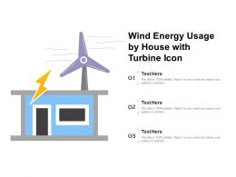 Wind Energy Usage By House With Turbine Icon