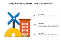 Wind Factory Icon With 4 Propellers