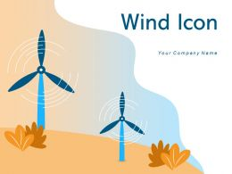 Wind Icon Record Speed Depicting Battery Energy Turbines Harnessing Presenting