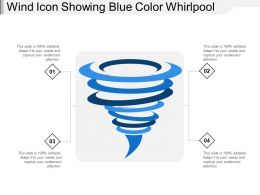 Wind Icon Showing Blue Color Whirlpool