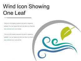 Wind Icon Showing One Leaf