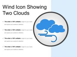 Wind Icon Showing Two Clouds