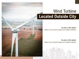 Wind Turbine Located Outside City