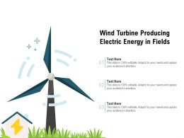 Wind Turbine Producing Electric Energy In Fields