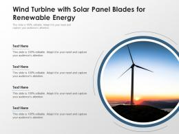 Wind Turbine With Solar Panel Blades For Renewable Energy