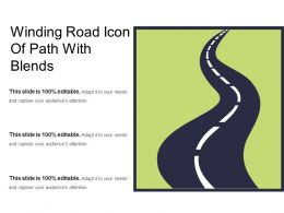 Winding Road Icon Of Path With Blends