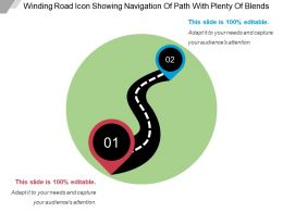 Winding Road Icon Showing Navigation Of Path With Plenty Of Blends