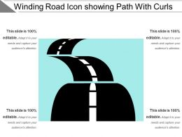 Winding Road Icon Showing Path With Curls