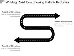 Winding Road Icon Showing Path With Curves