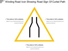 Winding Road Icon Showing Road Sign Of Curled Path