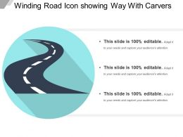 Winding Road Icon Showing Way With Curves