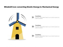 Windmill Icon Converting Kinetic Energy To Mechanical Energy
