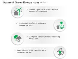 Windmill Solar Energy System Green House Green Energy Ppt Icons Graphics