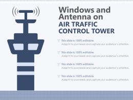 Windows And Antenna On Air Traffic Control Tower