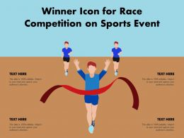Winner Icon For Race Competition On Sports Event