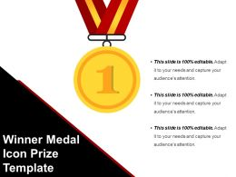 Winner Medal Icon Prize Template Presentation Images