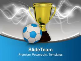Winner Of Football Game Powerpoint Templates Ppt Backgrounds For Slides 0113