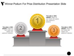 Winner Podium For Prize Distribution Presentation Slide