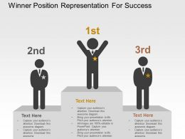 Winner Position Representation For Success Flat Powerpoint Design