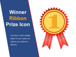 Winner Ribbon Prize Icon Example Of Ppt