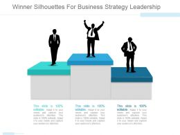 Winner Silhouettes For Business Strategy Leadership Ppt Model