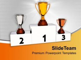 Winner Trophies Competition Powerpoint Templates Ppt Themes And Graphics 0313