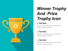 Winner Trophy And Prize Trophy Icon Ppt Diagrams