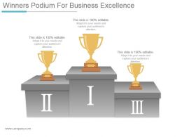 Winners Podium For Business Excellence Ppt Background