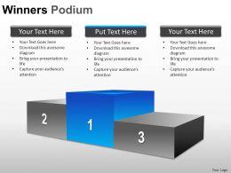 Winners Podium Powerpoint Presentation Slides