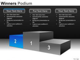 Winners Podium Powerpoint Presentation Slides DB