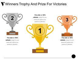 Winners Trophy And Prize For Victories Ppt Example File