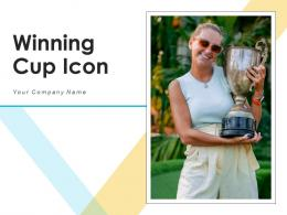 Winning Cup Icon Business Employee Targets Achievement Corporate Ceremony