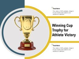 Winning Cup Trophy For Athlete Victory