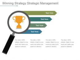 Winning Strategy Strategic Management Powerpoint Slide Information