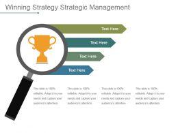 Winning Strategy Strategic Management Powerpoint Slide Information