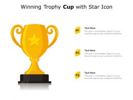 Winning Trophy Cup With Star Icon