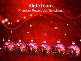 Winter Holidays Christmas Balls 2013 New Year Festival Powerpoint Templates And Themes