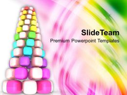 Winter Holidays Christmas Balls 3d Cubed Pine Tree Events Templates Ppt For Slides Powerpoint