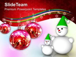 Winter Holidays Christmas Clipart Concept Powerpoint Templates Ppt Backgrounds For Slides