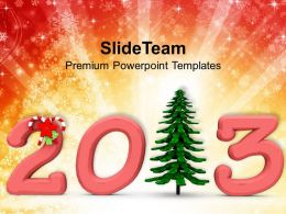 winter_holidays_christmas_wreath_2013_with_pine_tree_powerpoint_templates_ppt_for_slides_Slide01