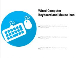 Wired Computer Keyboard And Mouse Icon