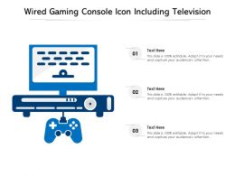 Wired Gaming Console Icon Including Television