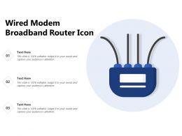 Wired Modem Broadband Router Icon