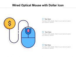 Wired Optical Mouse With Dollar Icon