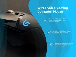 Wired Video Gaming Computer Mouse