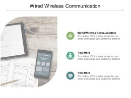 Wired Wireless Communication Ppt Powerpoint Presentation Icon Grid Cpb