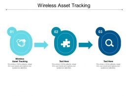 Wireless Asset Tracking Ppt Powerpoint Presentation Infographics Clipart Images Cpb