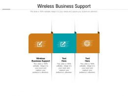 Wireless Business Support Ppt Powerpoint Presentation Styles Images Cpb