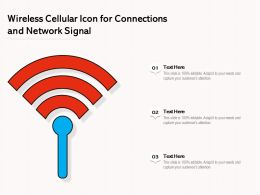 Wireless Cellular Icon For Connections And Network Signal